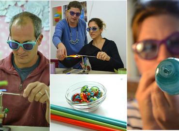 בואו לשחק באש - סדנת להכנת חרוזי זכוכית צבעוניים