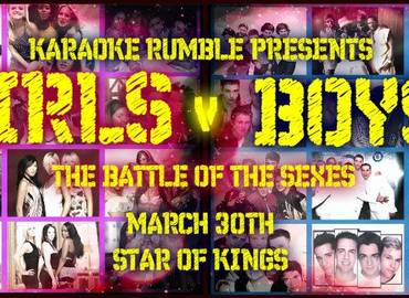 Karaoke Rumble - Girls v Boys - Battle of the Sexes