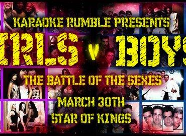 Karaoke Rumble - Girls v Boys - Battle of the Sexes