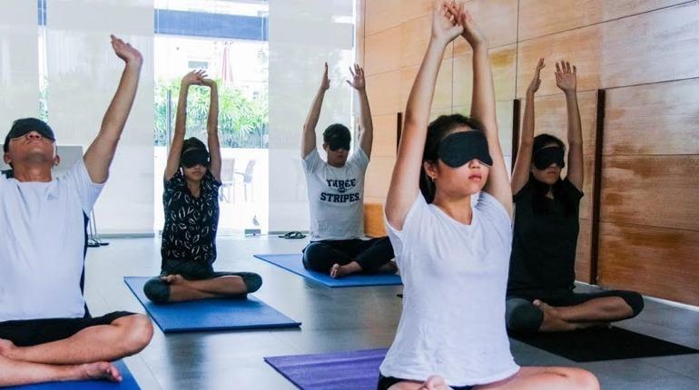 Yoga in the Dark!