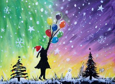 Paint Christmas Banksy + Wine!
