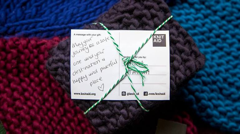 """All You Knit is Love"" Mass Knit-in for Refugees"