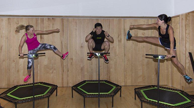 Jumping Fitness Trampoline Workout in Kenton