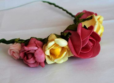 Design and Make Your Own Floral Crown