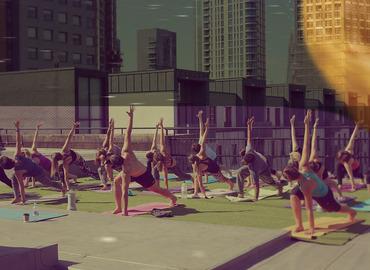 Full Moon Rooftop Yoga