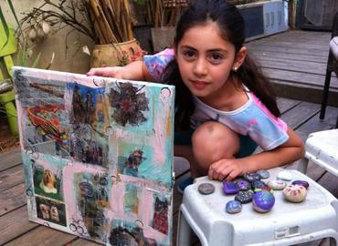 חגיגת צבעים להורים וילדים  - סדנת יצירה בקנווס