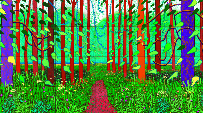 Paint Hockney 's Arrival of Spring! Angel