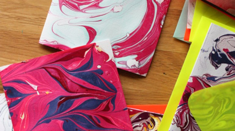 Create Your Own Handmade Marbled Cards