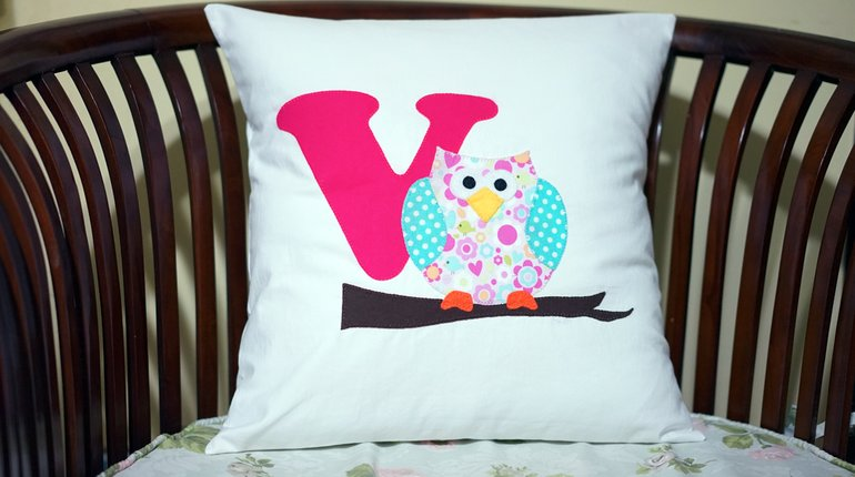 Sew Your Own Owl Applique Pillow