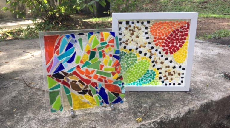 Make a Fused Glass Panel Decor / Box