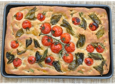 Learn How to Make Tomato and Basil Focaccia