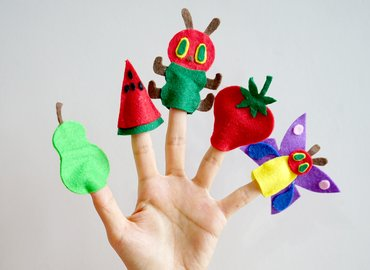 DIY Your Own Hungry Caterpillar Finger Puppets