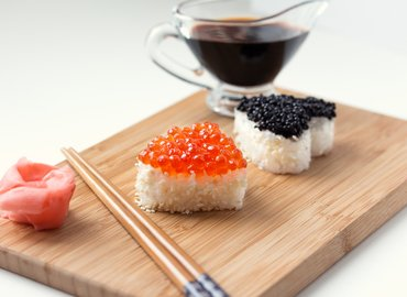 Valentine's Day Sushi Making