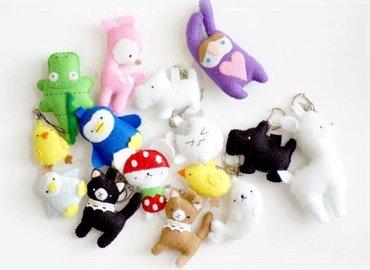 Felt Animal Keychains Making Workshop