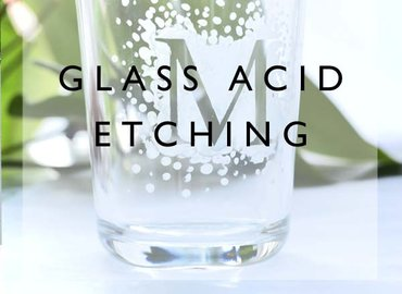 Anyone can Try Acid Etching on Glass