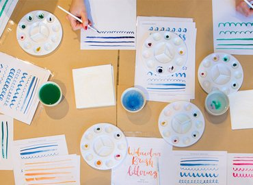 Watercolour Brush Lettering Workshop