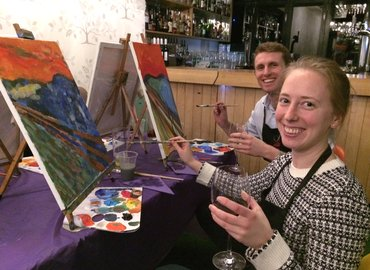 Paint The Scream for Halloween + Wine!