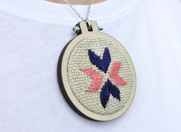 Stitch Your Own Needlepoint Necklace