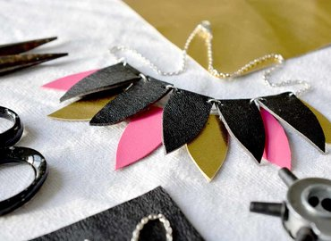 Make a Stylish Leather Necklace