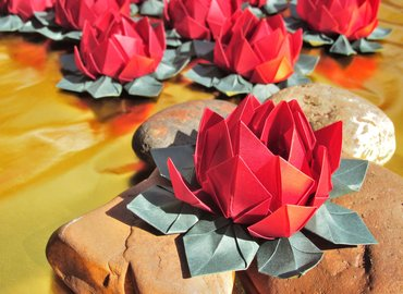 POP UP INDIA - Origami Lotus Making @ Proud East