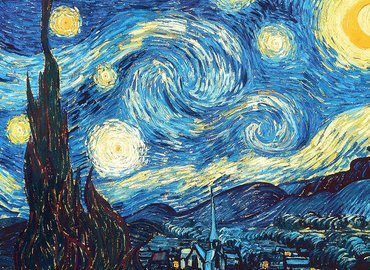 Paint Classic Starry Night! in Angel