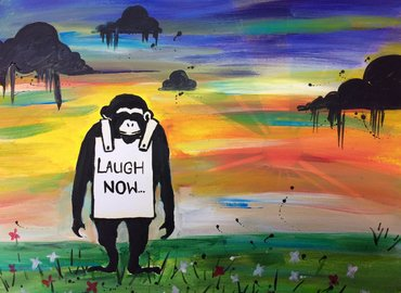 Paint Like Banksy! Laugh Now Monkey edition